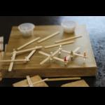 Popsicle Sticks on a wooden board
