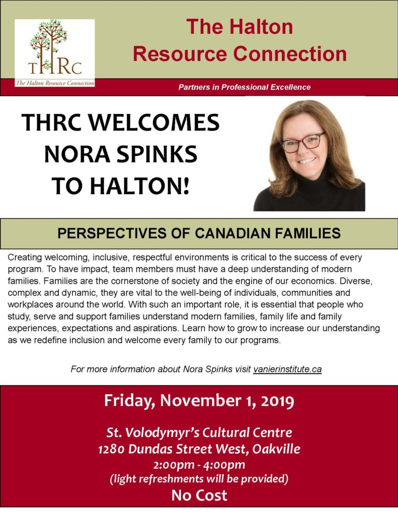 THRC Event Flyer for Nora Spinks