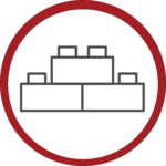 Icon of stacked bricks