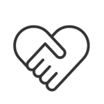 Holding hands relationship icon