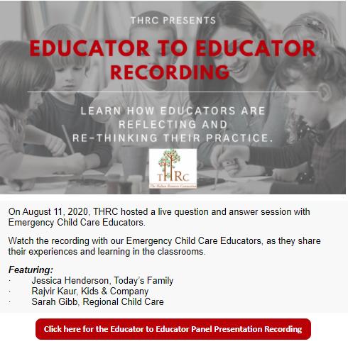 Educator to Educator Recording Flyer