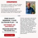 THRC Flyer with Rusty Keeler and Rusty Keeler's Webinar