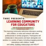 Learning Community for Educator Flyer
