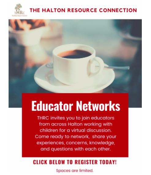 THRC Educator Network Flyer Part 1