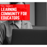 Learning Community Banner with a Woman on a Laptop