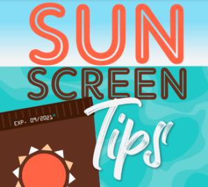 Sun Screen Tips Banner
